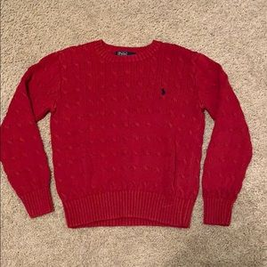 Red Polo Pullover Sweater
